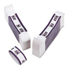Color-Coded Kraft Currency Straps, Dollar Bill, $50, Self-Adhesive, 1000/Pack PMC55026
