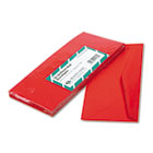 Colored Envelope, Traditional, #10, Red, 25/Pack QUA11134