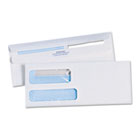 Redi-Seal Envelopes, #10 (4-1/8 X 9-1/2), Double Window QUA24559