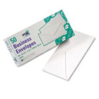 White Wove Business Envelope Convenience Packs, V-Flap, #10, 50/Box QUA69016