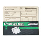 Employee Record Folder, Top Tab, Letter, Manila, 20/Pack QUA69998