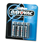 Alkaline Batteries, AA, 4/Pack RAY8154F