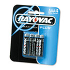 Alkaline Batteries, AAA, 4/Pack RAY8244F