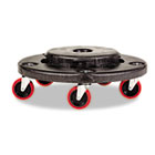 Brute Quiet Dolly, 250lb Capacity, 18 1/4 dia. x 6 5/8h, Black RCP264043BLA