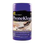 PhoneKleen Wet Wipes, Cloth, 5 x 6, 50/Tub REARR1403