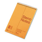 Standard Spiral Steno Book, Gregg Rule, 6 x 9, Green, 80 Sheets/Pad RED36746