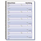 Voice Mail Wirebound Log Books, 8 x 10 5/8, 500 Sets/Book RED51114