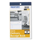 Delivery Receipt Book, 6 3/8 x 4 1/4, Two-Part Carbonless, 50 Sets/Book RED6L614