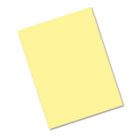 Riverside Construction Paper, 76 lbs., 9 x 12, Light Yellow, 50 Sheets/Pack PAC103966