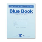 Exam Blue Book, Wide Rule, 8-1/2 x 7, White, 4 Sheets/8 Pages ROA77510