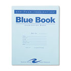 Exam Blue Book, Wide Rule, 8-1/2 x 7, White, 12 Sheets/24 Pages ROA77513