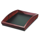 Executive Woodline II Front Loading Single Letter Desk Tray, Wood, Mahogany ROL19200