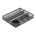 Deep Desk Drawer Organizer, Metal Mesh, Black ROL22131