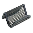 Mesh Business Card Holder, Capacity 50 2 1/4 x 4 Cards, Black ROL22251ELD