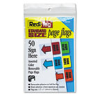 Removable Page Flags, Green/Yellow/Red/Blue/Orange, 10/Color, 50/Pack RTG76830