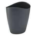 Desktop Tools Waste Container, Elliptical, Plastic, 28qt, Black RCP25981