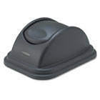 Rectangular Free-Swinging Plastic Lids, Black RCP306700BK