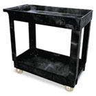 Service/Utility Cart, Two-Shelf, 17w x 38d x 31h, Black RCP9T6600BLA