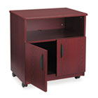 Laminate Machine Stand w/Open Compartment, 28w x 19-3/4d x 30-1/2h, Mahogany SAF1850MH