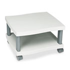 Wave Design Printer Stand, Two-Shelf, 20w x 17-1/2d x 11-1/2h, Charcoal Gray SAF1861GR