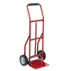 Two-Wheel Steel Hand Truck, 300lb Capacity, 18 x 44, Red SAF4081R