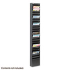 Steel Magazine Rack, 23 Compartments, 10w x 4d x 65-1/2h, Black SAF4322BL