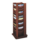 Rotary Display, 48 Compartments, 17-3/4w x 17-3/4d x 49-1/2h, Mahogany SAF4335MH