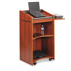 Executive Mobile Lectern, 25-1/4w x 19-3/4d x 46h, Cherry SAF8918CY