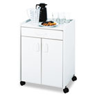 Mobile Refreshment Center Cart, One-Shelf, 23w x 18d x 31h, Gray SAF8953GR