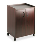 Mobile Refreshment Center, One-Shelf, 23w x 18d x 31h, Mahogany SAF8953MH