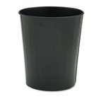 Fire-Safe Wastebasket, Round, Steel, 23.5qt, Black SAF9604BL