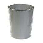 Fire-Safe Wastebasket, Round, Steel, 23.5qt, Charcoal SAF9604CH