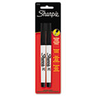 Permanent Marker, Ultra Fine Point, Black, 2/Pack CL37161