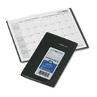 "Recycled Monthly Planner, Black, 3 5/8"" x 6 3/16"", 2014-2016 AAGSK5300"
