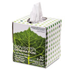 100% Recycled Facial Tissue, 2-Ply, Pop-up Cube Box SEV13719EA