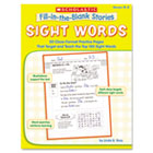 Fill-in-the-Blank Stories, Sight Words, Grades K-2, 64 Pages SHS0439554314