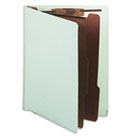 Pressboard End Tab Classification Folder, Letter, Six-Section, Pale Green SJPS60934