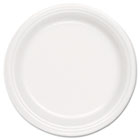 "Foam Plate, 9"" dia, White, 125/Pack, 500/Carton SLOFSF90007"
