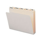Indexed File Folders, 1/5 Cut, Indexed Jan-Dec, Top Tab, Letter, Manila, 12/Set SMD11765
