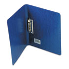 "PRESSTEX Grip Punchless Binder With Spring-Action Clamp, 5/8"" Cap, Dark Blue ACC42523"