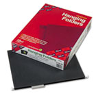 Hanging Folders, Letter Size, 1/5 Cut, 11 Pt. Stock, Black, 25/Box SMD64062
