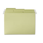 FasTab Hanging File Folders, 1/3 Tab, Letter, Moss Green, 20/Box SMD64082