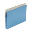 1 3/4 Inch Accordion Expansion Colored File Pocket, Straight Tab, Letter, Blue SMD73215