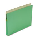 1 3/4 Inch Accordion Expansion Colored File Pocket, Straight Tab, Letter, Green SMD73216