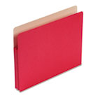 1 3/4 Inch Accordion Expansion Colored File Pocket, Straight Tab, Letter, Red SMD73221
