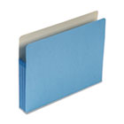 3 1/2 Inch Accordion Expansion Colored File Pocket, Straight Tab, Letter, Blue SMD73225
