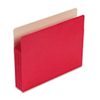 3 1/2 Inch Accordion Expansion Colored File Pocket, Straight Tab, Letter, Red SMD73231