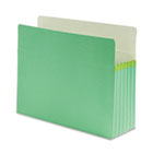 5 1/4 Inch Accordion Expansion Colored File Pocket, Straight Tab, Letter, Green SMD73236