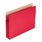 5 1/4 Inch Accordion Expansion Colored File Pocket, Straight Tab, Letter, Red SMD73241