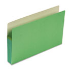 3 1/2 Inch Accordion Expansion Colored File Pocket, Straight Tab, Legal, Green SMD74226